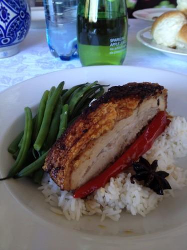 Pork belly with caramelised vinegar