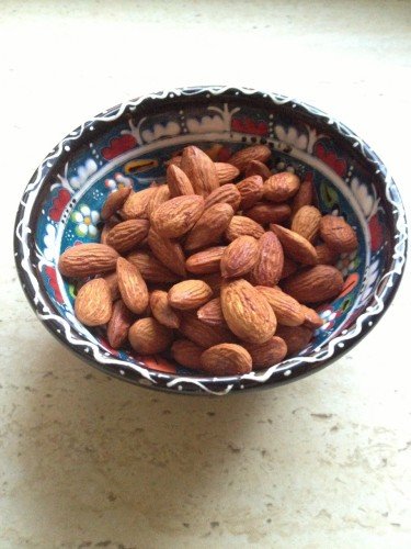 Tamari almonds.  We make our own by tossing the organic almonds in tamari then placing for a few minutes in a hot oven.