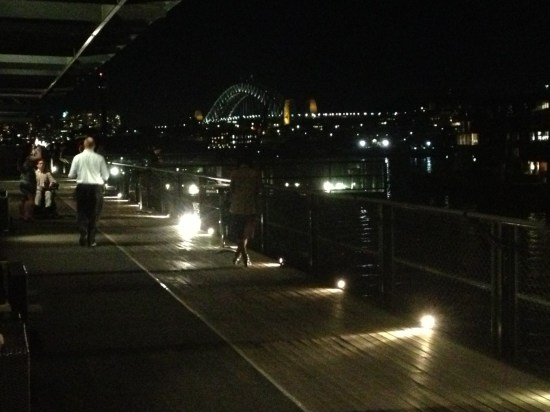 Sydney Harbour on a warm winter's night