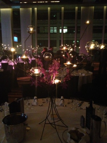 The candelabras were not only pretty but they created beautiful anti-ageing lighting!