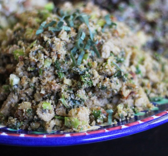 Walnut and Sage Stuffing with Breadcrumbs