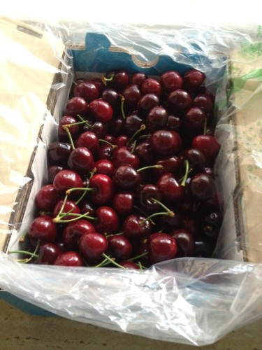 Cherries for cherry chutney