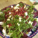 Radicchio, Watercress and Witlof Salad with Pomegranate Dressing