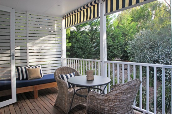 A covered verandah
