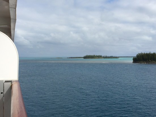 Isle of Pines as seen from the ship.
