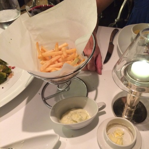 Truffle fries with aioli