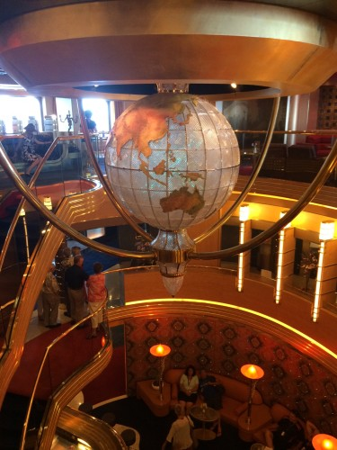 The centre of the ship where there was a shiny globe that spun.  I have been careful to take a photo featuring the promised land!
