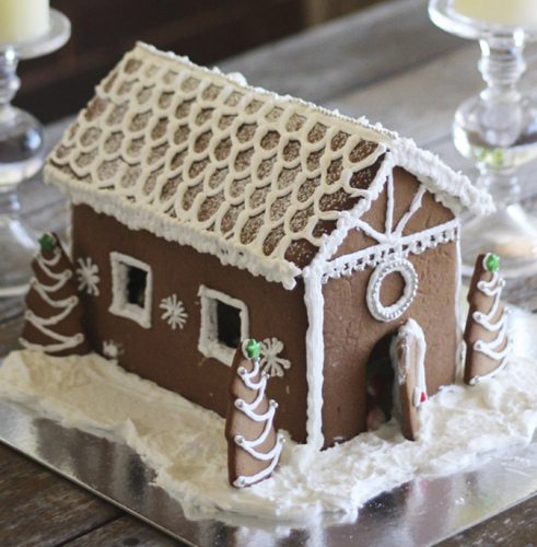 A gingerbread house