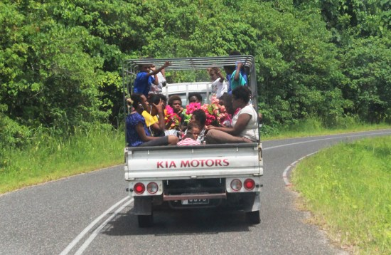 Very common local transport (there is no public transport on Vanuatu).