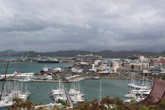 View of Noumea as a cyclone arrives