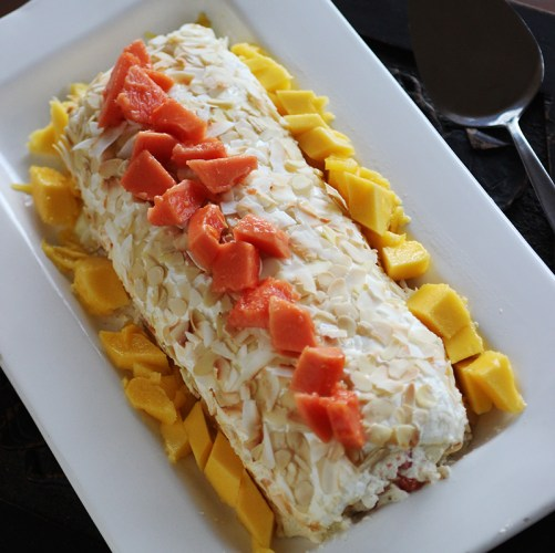 Tropical Meringue Roulade