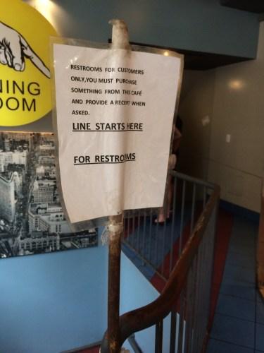 Rules regarding using the bathroom