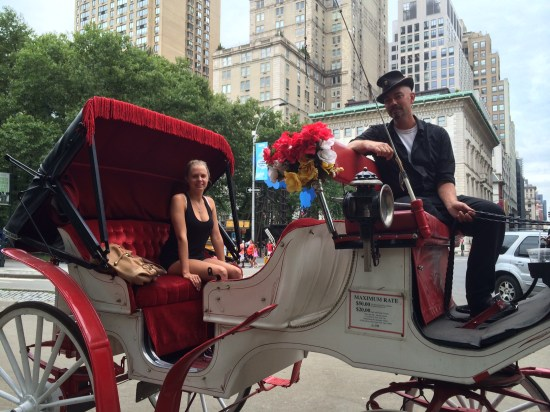 Our first horse and carriage ride