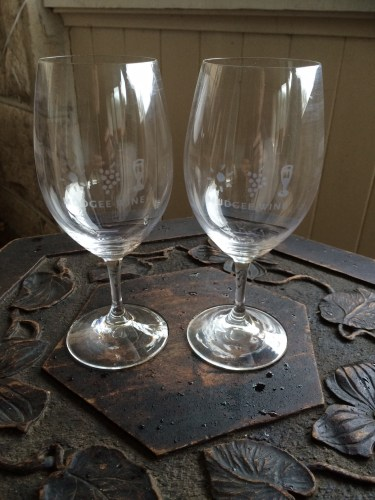 Souvenir Riedle wine glasses