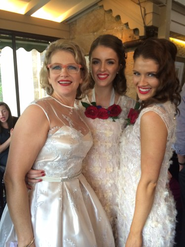 The bride with her two daughters