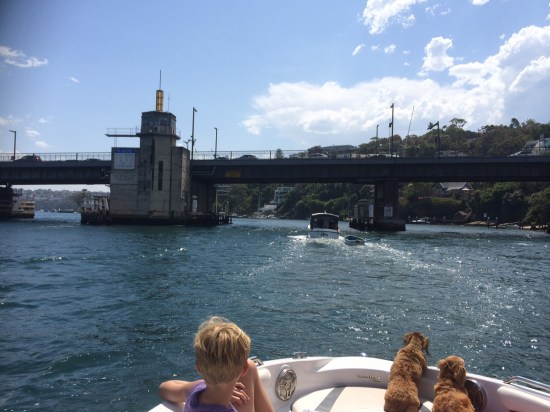 Heading under the Spit Bridge