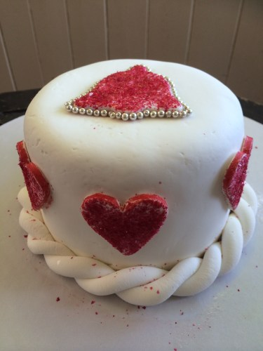 Red-glitter hearts