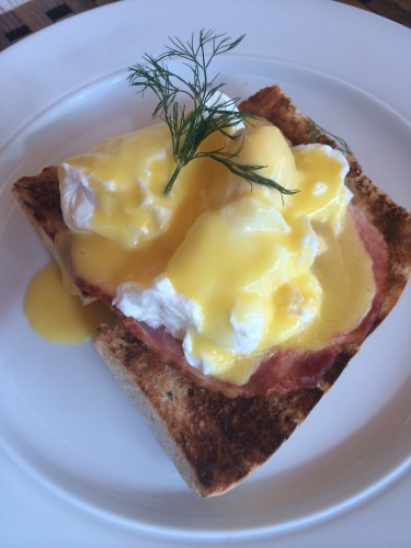 Eggs Benedict:  1200 vt or about AUS$15.00