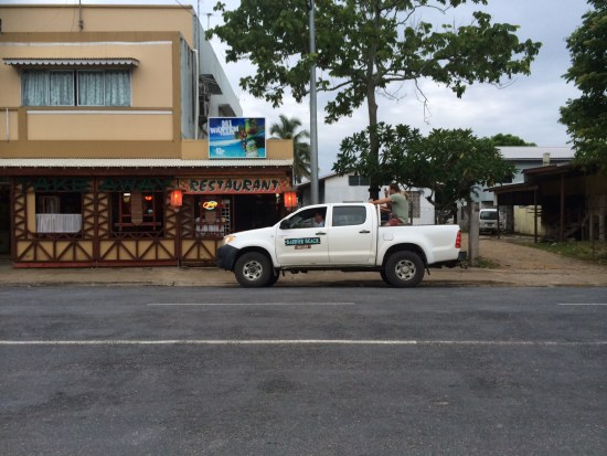 Parking isn't an issue in Luganville - and it's always free.