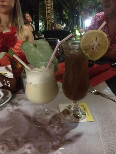 Pina Colada and Long Island Iced Tea