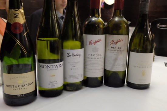 A good selection of wines