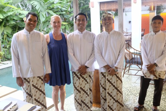 Beautiful waiters at Bambu