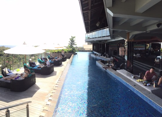 Rooftop bar at Rimba