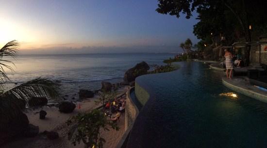 Ocean pool at twilight