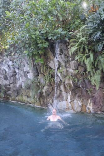 Getting a waterfall massage