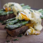 Asparagus and Poached Eggs on Toast