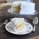 Tropical Cake with Coconut Cream Frosting