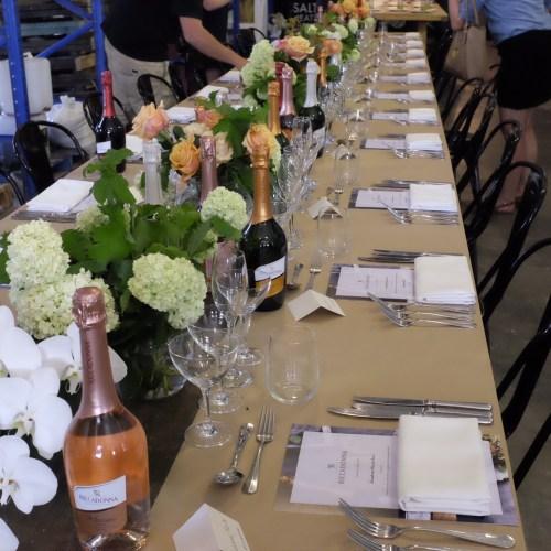 A long table, Italian style