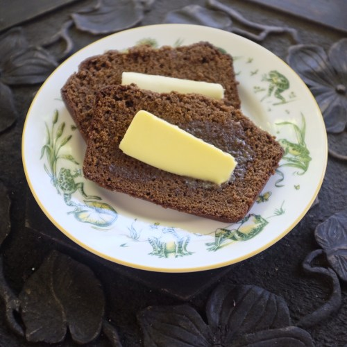 Gingerbread served with butter