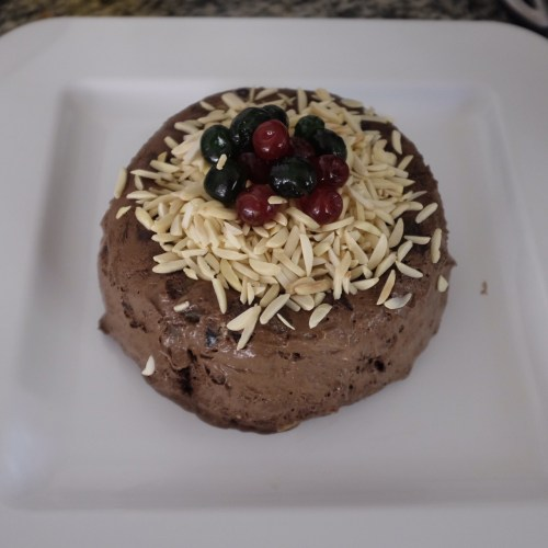 Frozen Chocolate Christmas Pudding