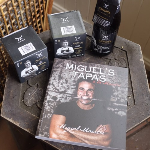 Miguel's cookbook, sangria and paella packs
