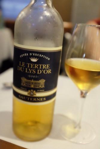 2007 Le Tertre du Lys d'Or Sauternes Bordeaux, France:  $16.00