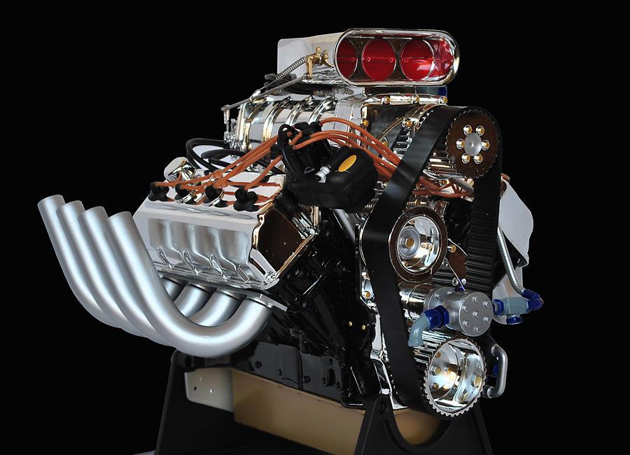 Top fuel drag racing engines