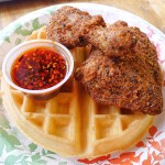 Panko Crusted Quarter Chicken and Waffle(Sat and Sun Only)