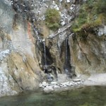 30 ft Hot Waterfall-Fed Brown Hot Spring in Idaho
