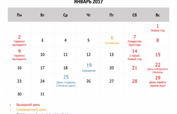 январь 2017
