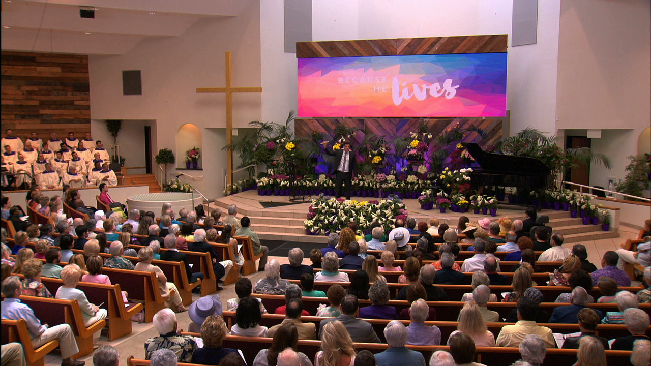 Hour of Power with Bobby Schuller at Shepherd's Grove in Orange County, Ca on Easter