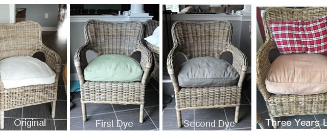 Ikea chair cushions three years later