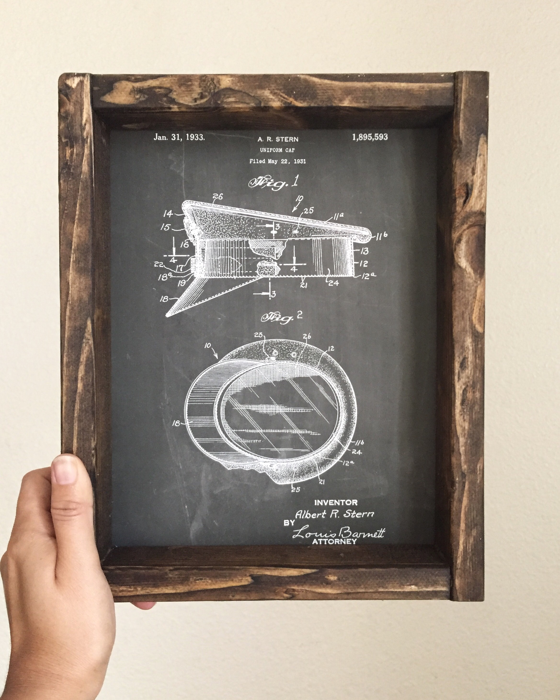 Peachy A Bit This Little Rustic Frame Took An A Common Some Walnut Stain Under It Fits An Print Iordered Built This Rustic Frames Patent Prints photos Rustic Picture Frames