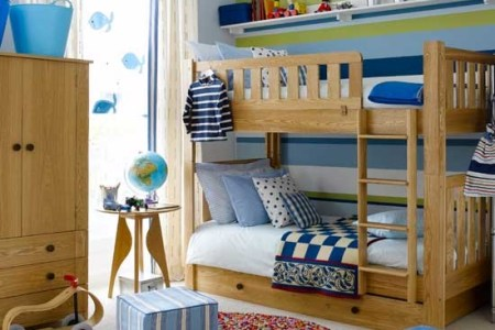 colourful boys' bedroom with bunks | boys bedroom ideas