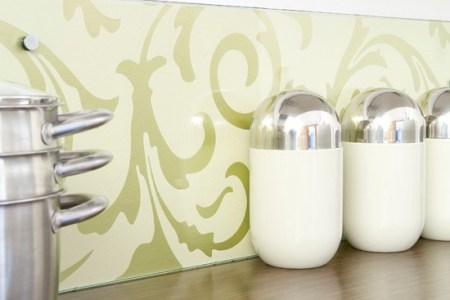 kitchen ideas clear plastic splashback