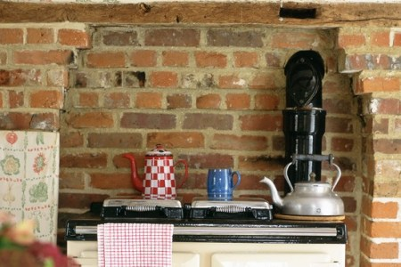 kitchen ideas exposed brick and beams