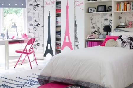 paris theme girl's bedroom | teenage girls bedroom ideas