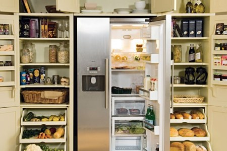 larder with fridge freezer from neptune | kitchen storage