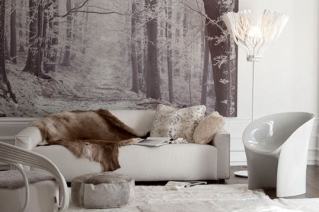 cosy winter inspired living room
