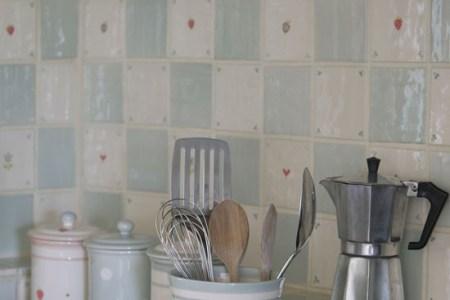 susie watson handmade kitchen wall tiles